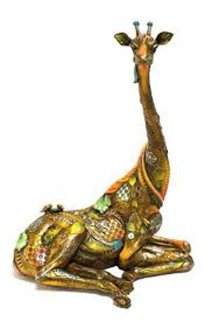Tina Bronze Sculpture 2009 16 in with Lithograph Sculpture - Nano Lopez