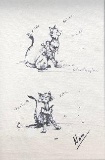 Sketch of Cat Gatito Limited Edition Print - Nano Lopez