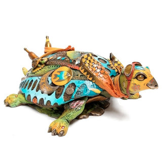 Tracy, the Turtle Bronze Sculpture 2015 8 in Sculpture - Nano Lopez