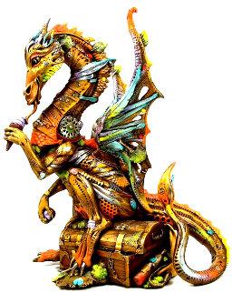 Little Davian the Dragon Bronze Sculpture 2014 11 in  Sculpture by Nano Lopez