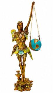 Maria Mundo Bronze Sculpture 28 in Sculpture by Nano Lopez