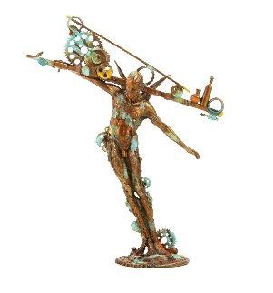 Man Balance Bronze Sculpture 2009 29 in Sculpture by Nano Lopez