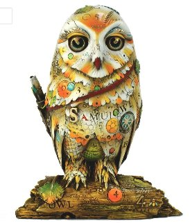 Samuel (Owl) Bronze Sculpture 2005  5 in Sculpture by Nano Lopez