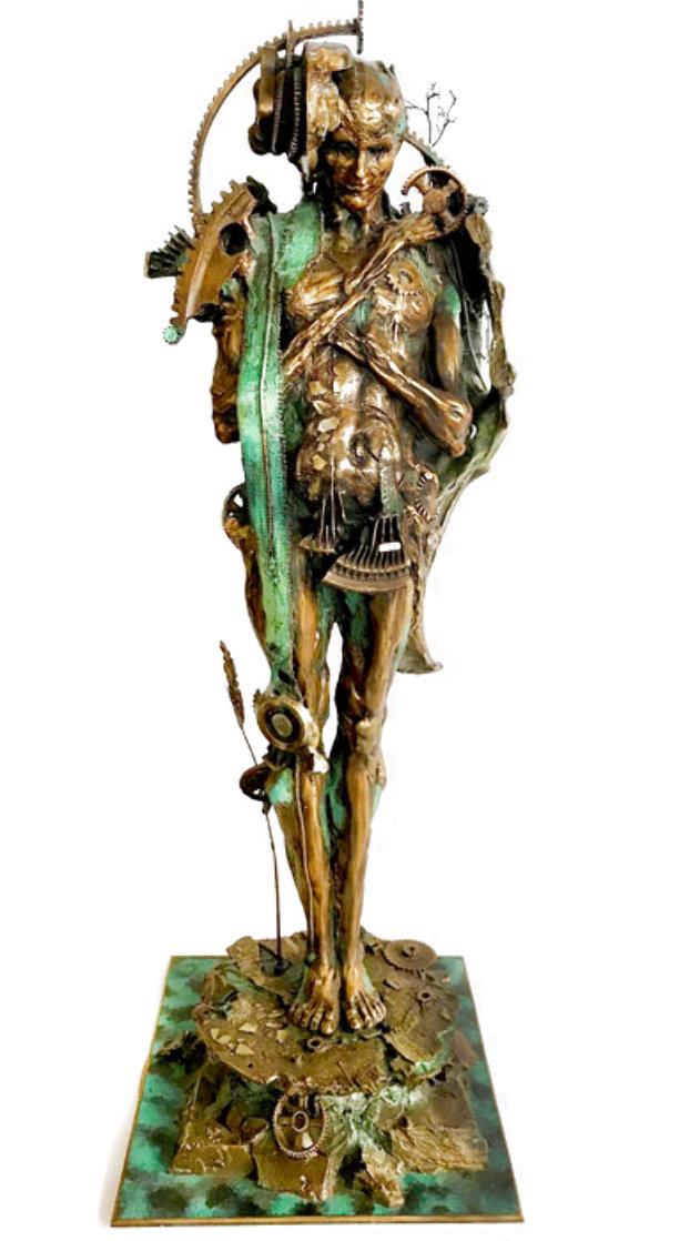 Industman Bronze Sculpture 1997 34 in Sculpture by Nano Lopez