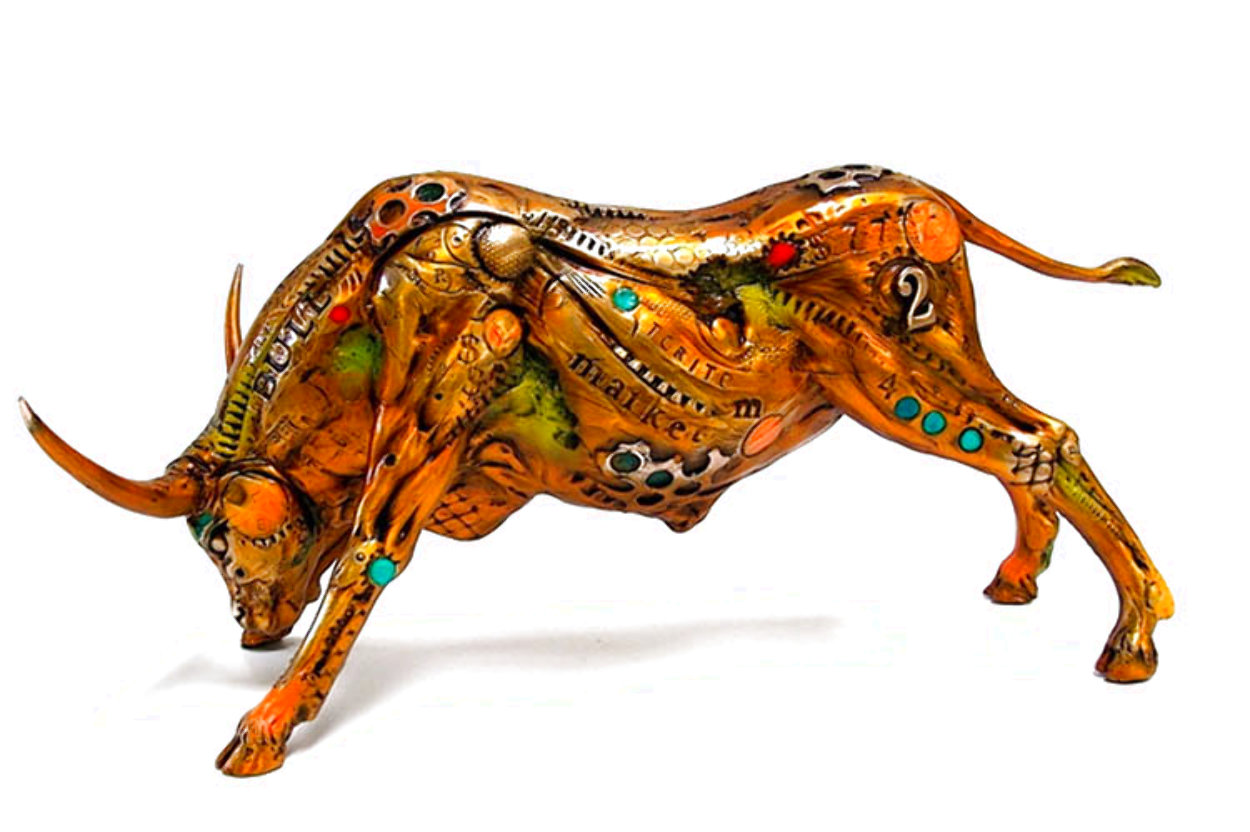 Torito the Bull Bronze Sculpture 2008 14 in Sculpture by Nano Lopez