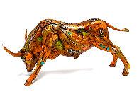 Torito the Bull Bronze Sculpture 2008 14 in Sculpture by Nano Lopez - 0
