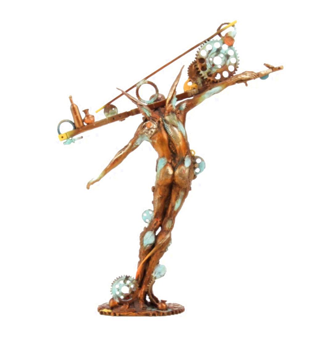 Man Balance (Small) Bronze Sculpture 2016 13 in Sculpture by Nano Lopez