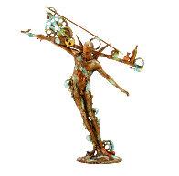 Man Balance (Small) Bronze Sculpture 2016 13 in Sculpture by Nano Lopez - 1