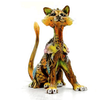 Sally (Small Cat)  Bronze Sculpture 2015 5 in Sculpture - Nano Lopez