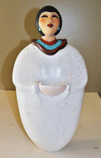 Earth Mother Ceramic Sculpture 21 in Sculpture - Estella Loretto