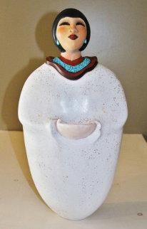 Earth Mother Ceramic Sculpture 21 in Sculpture - Estella Loretto