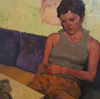 Untitled Painting 21x21 Original Painting - Joseph Lorusso