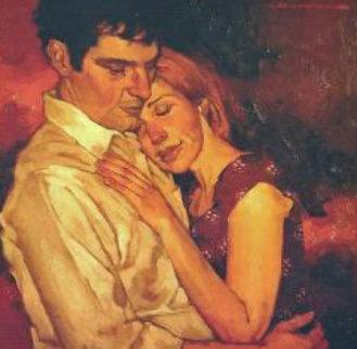 Getting Close 12x12 Original Painting - Joseph Lorusso