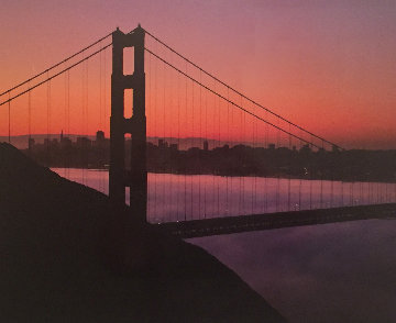 Pale Moon Rising - San Francisco Panorama by Rodney Lough, Jr.