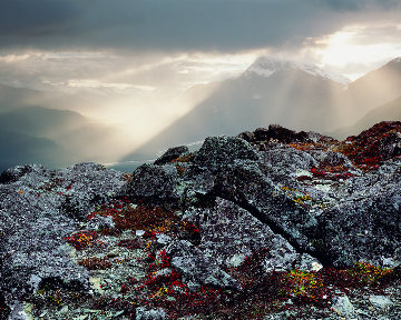 High on a Mountain Top Panorama by Rodney Lough, Jr.