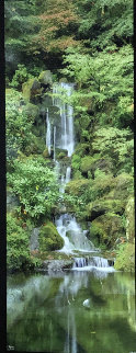 Waterfall in the Garden Panorama by Rodney Lough, Jr.