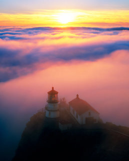 Point Reyes Lighthouse, California AP Panorama by Rodney Lough, Jr.