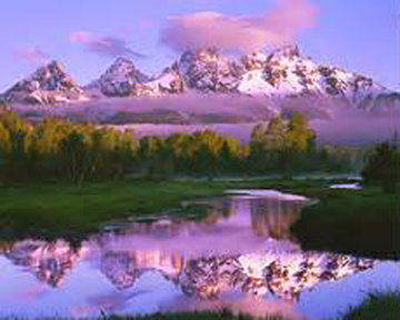 Misty Morning III 1995 Panorama - Rodney Lough, Jr.