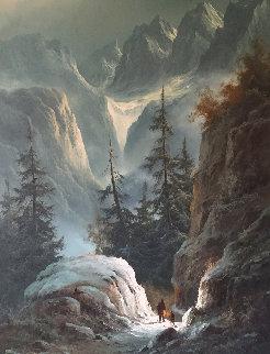 Untitled Landscape 39x48 Original Painting - Ludwig Muninger
