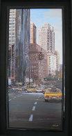 Towards Central Park South 2002 New York 31x16 Original Painting by Luigi Rocca - 1