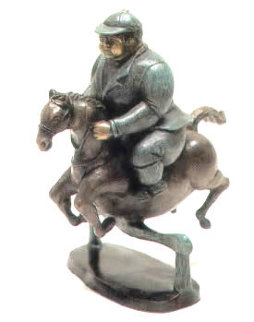 Horse Jumper Bronze Sculpture 12 in Sculpture by Bruno Luna