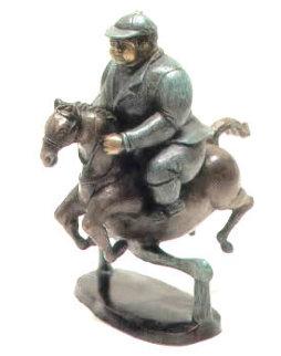 Horse Jumper Bronze Sculpture 12 in Sculpture by Bruno Luna