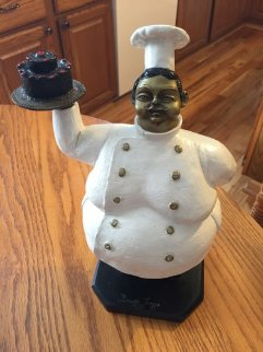 Pastry Chef Bronze Sculpture 13 in Sculpture by Bruno Luna