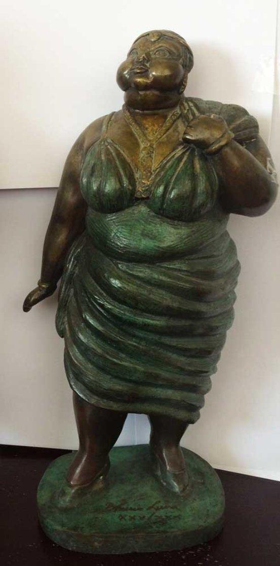 Donna Bella Bronze Sculpture 1979 Sculpture by Bruno Luna