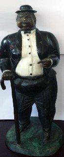 Don Cuco Bronze Sculpture 1980 Sculpture - Bruno Luna