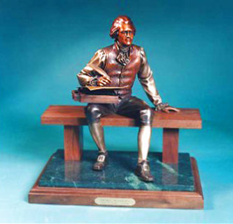 Thomas Jefferson Bronze Sculpture 16 in Sculpture - George Lundeen