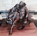 Departure Bronze Sculpture 1978 Sculpture - George Lundeen