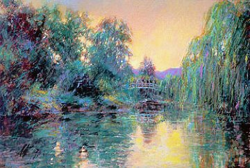 Homage to Monet 1987 Remarque 32x43  Huge  Limited Edition Print - Aldo Luongo