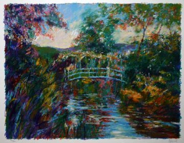 Bridge At Giverny (Monet's Garden) 1998 Limited Edition Print by Aldo Luongo