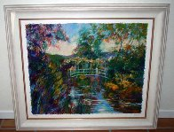 Bridge At Giverny (Monet's Garden) 1998 Limited Edition Print by Aldo Luongo - 1
