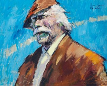 Hawk 1993 53x63 Original Painting by Aldo Luongo