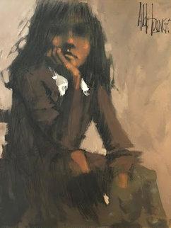 Untitled Portrait 60x48 Huge  Original Painting - Aldo Luongo