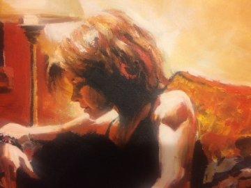 Silhouette 2003 36x44 Original Painting - Aldo Luongo