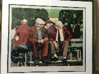 Two Men Siting on a Bench AP 1992 Limited Edition Print by Aldo Luongo - 1