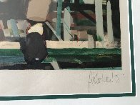 Two Men Siting on a Bench AP 1992 Limited Edition Print by Aldo Luongo - 2