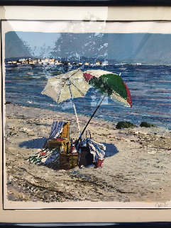 Two Umbrellas AP 1986 Limited Edition Print - Aldo Luongo