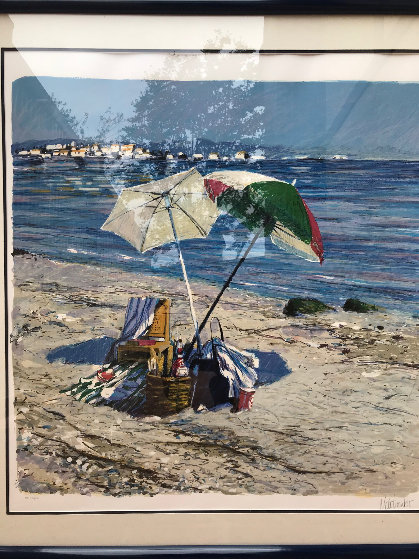 Two Umbrellas AP 1986 Limited Edition Print by Aldo Luongo