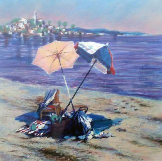 Two Umbrellas AP 1986 Limited Edition Print - Aldo Luongo