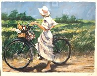 Country Bike Ride AP 1987 Limited Edition Print by Aldo Luongo - 4