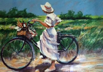 Country Bike Ride AP 1987 Limited Edition Print - Aldo Luongo