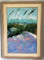 Windy Beach II 1990 75x56 Huge  Original Painting by Aldo Luongo - 1