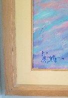 Windy Beach II 1990 75x56 Huge  Original Painting by Aldo Luongo - 2