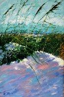Windy Beach II 1990 75x56 Huge  Original Painting by Aldo Luongo - 0