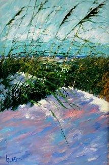 Windy Beach II 1990 75x56 Huge  Original Painting - Aldo Luongo