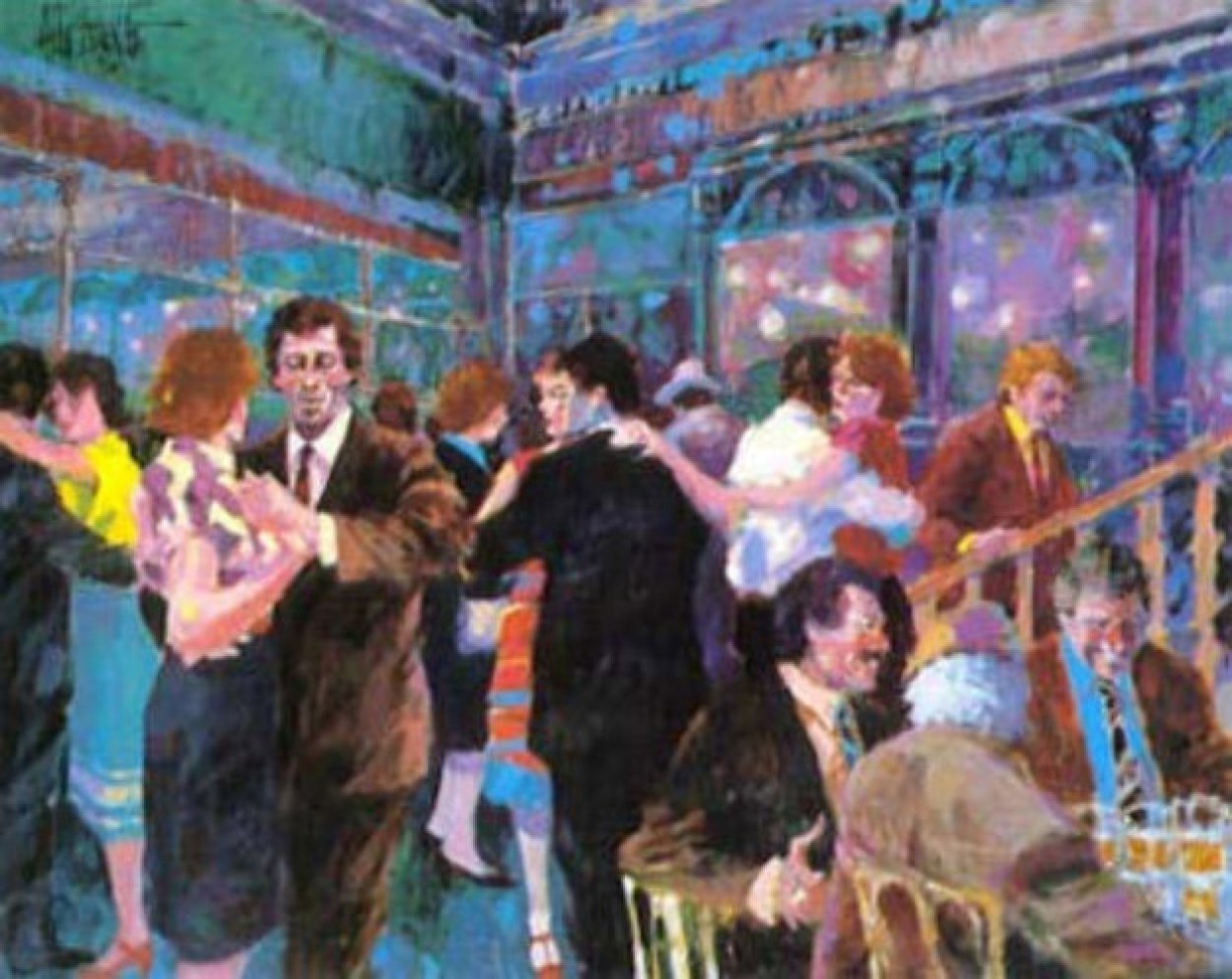 Tango At the Glass Palace 1987 Limited Edition Print by Aldo Luongo