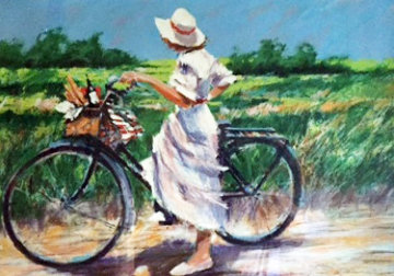Country Bike Ride 1987 Limited Edition Print by Aldo Luongo